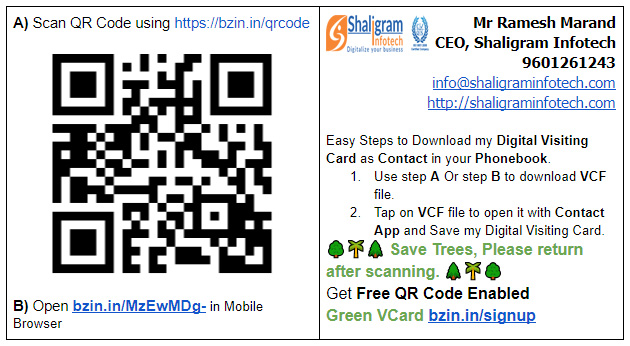 Pricing for green vcard bizinfosystems free green vcard free visiting card reheart Choice Image